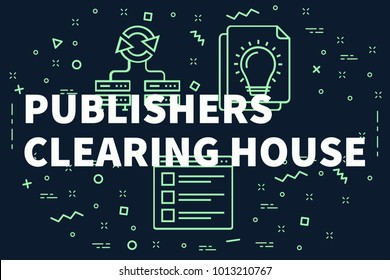 Conceptual business illustration with the words publishers clearing house
