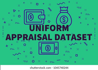Conceptual business illustration with the words uniform appraisal dataset