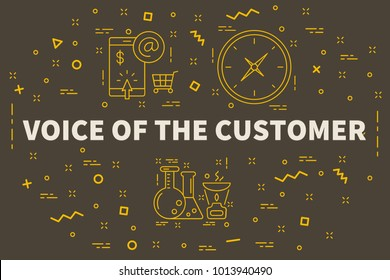 Conceptual business illustration with the words voice of the customer