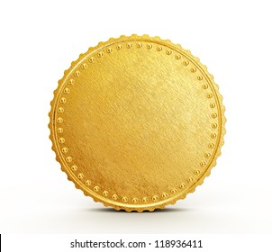 conceptual coin isolated on a white background