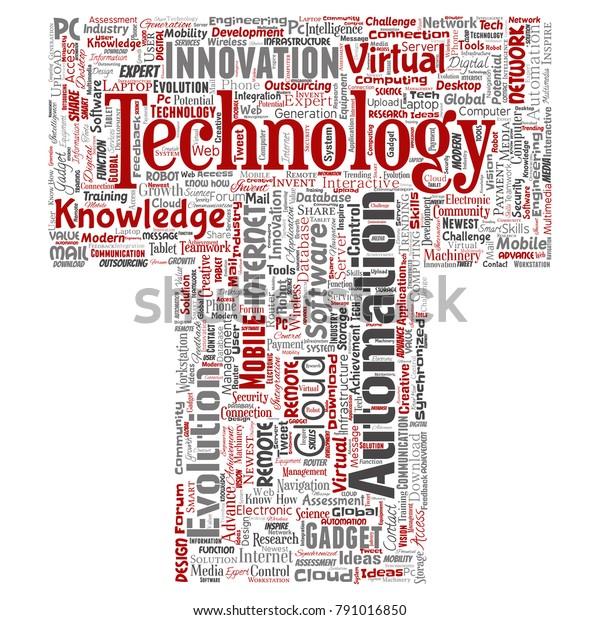 Conceptual Digital Smart Technology Innovation Media Stock
