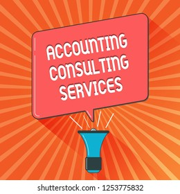 Conceptual hand writing showing Accounting Consulting Services. Business photo showcasing Preparation ofPeriodic Financial Statements
