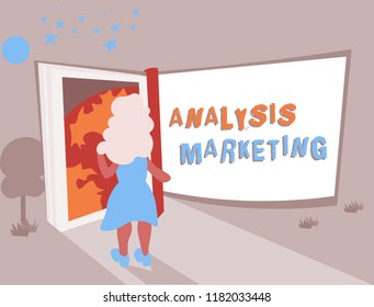 Conceptual hand writing showing Analysis Marketing. Business photo text Quantitative and qualitative assessment of a market