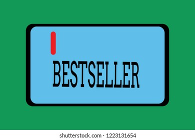 Conceptual hand writing showing Bestseller. Business photo showcasing Book product sold in large numbers Successful literature