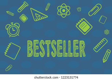 Conceptual hand writing showing Bestseller. Business photo text Book product sold in large numbers Successful literature