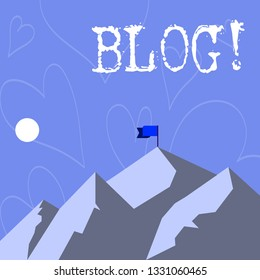 Conceptual hand writing showing Blog. Business photo showcasing Preperation of catchy content for blogging websites.