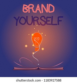 Conceptual hand writing showing Brand Yourself. Business photo showcasing Develop a unique professional identity Personal product