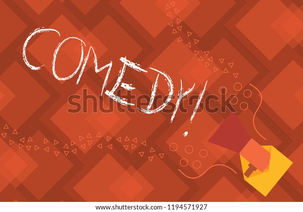 Conceptual Hand Writing Showing Comedy Business Stock