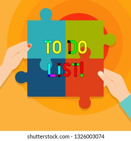 Conceptual hand writing showing To Do List. Business photo text A structure that usually made in paper containing task of yours.