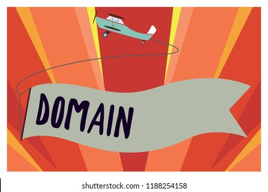 Conceptual hand writing showing Domain. Business photo showcasing distinct subset of Internet with addresses sharing common suffix