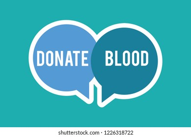 Conceptual hand writing showing Donate Blood. Business photo text Refers to the collection of blood commonly from donors