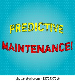Conceptual hand writing showing Predictive Maintenance. Business photo text maintenance strategy driven by predictive analytics Light Beam Glowing on Seamless Blue Pastel Shade Tiny Polka Dots.