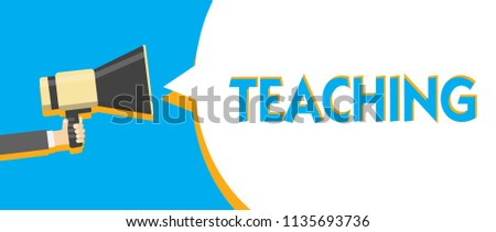 Conceptual Hand Writing Showing Teaching Business Stock Illustration