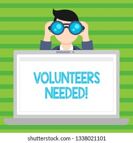 Conceptual hand writing showing Volunteers Needed. Business photo text Social Community Charity Volunteerism.