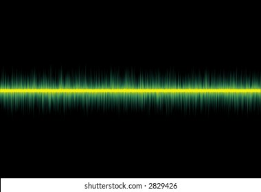 conceptual image of a flatline pulse from a monitor