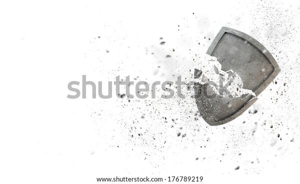 Konzeptuelles Bild mit altem Steinbruch