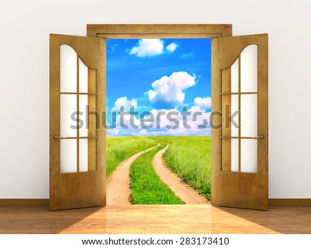 Conceptual image - a way to freedom