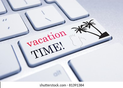 Conceptual Image for workers about to sign off and go on their summer holidays/annual vacation