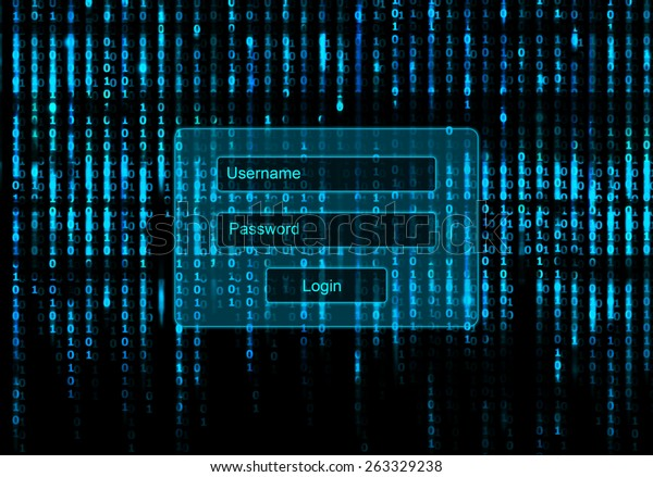 Conceptual Screen Matrix Background Login Window
