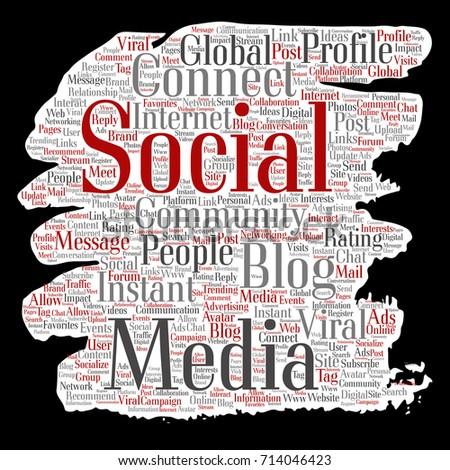 Conceptual Social Media Networking Communication Web Stock