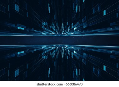 Conceptual space or time travel background futuristic sci-fi style