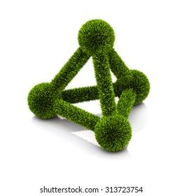 conceptual symbol of ecological atom