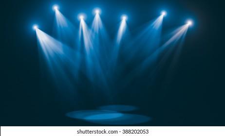 Concert cold blue lights (super high resolution)