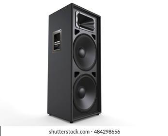 Concert speaker - side view - 3D Illustration