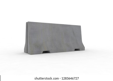 Concrete barrier 3d rendering