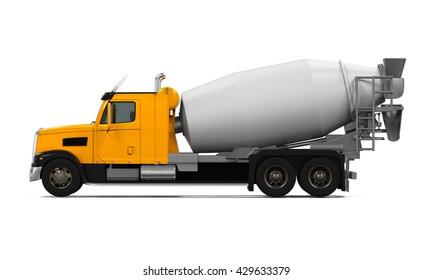 Concrete Mixer Truck. 3D rendering