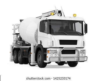 Concrete Mixer Truck Isolated. 3D rendering