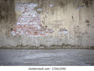 Concrete Wall with Bricks