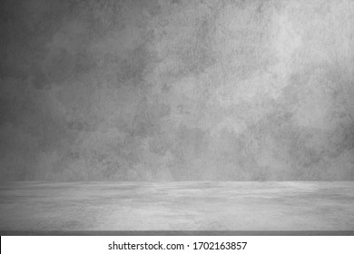 Concrete wall white grey color for background. Old grunge textures with scratches and cracks. White painted cement wall texture.