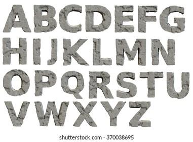 Concrete/Stone Alphabet