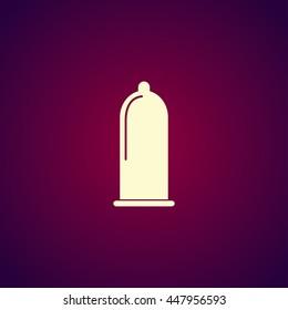 Condoms icon, flat Illustration