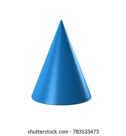 Cone Geometric shape. 3D Render Illustration
