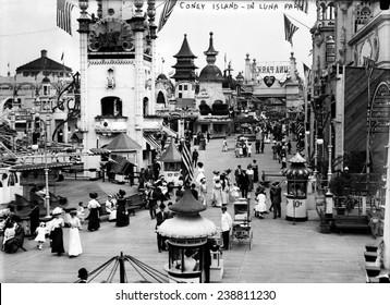 Coney Island, Luna Park. New York City, photograph, ca. 1910-1915