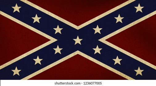 Confederate Flag Illustration Worn and Faded