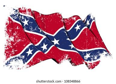 Confederate Rebel flag Grunge