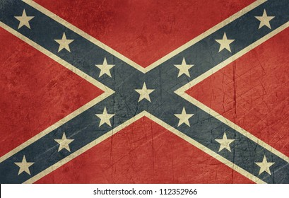 Confederate rebel grunge flag of southern America in official colors.