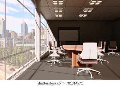 Conference room 3d illustration