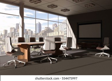 Conference room 3d scene