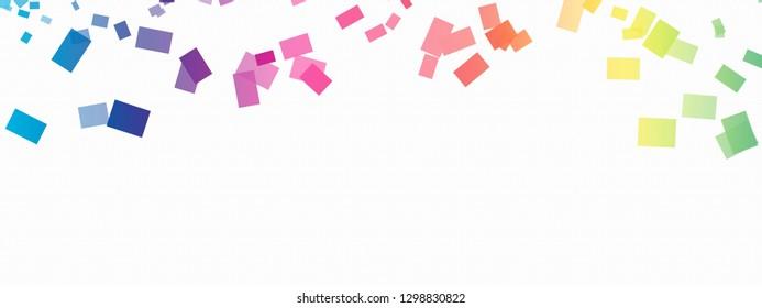 Confetti Rainbow Background