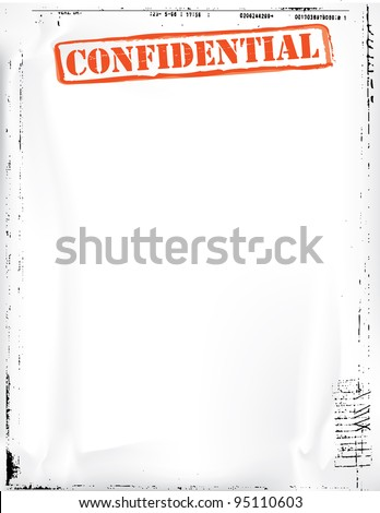 confidential document template stock illustration 95110603