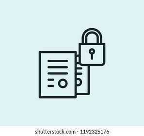 Confidential icon line isolated on clean background. Confidential icon concept drawing icon line in modern style.  illustration for your web mobile logo app UI design.