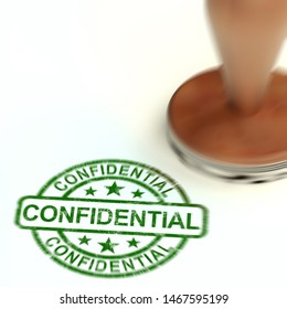 Confidential stamp concept for certifying documents as top secret. An important seal for secrecy and censorship - 3d illustration