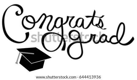 congrats grad em ilustração stock 644413936 shutterstock