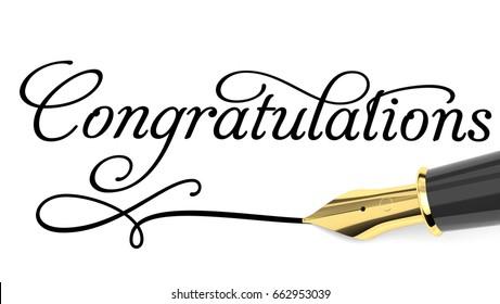 Congratulations card. 3d illustration