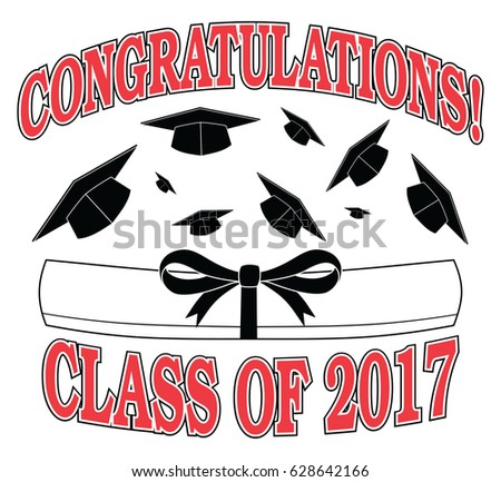 congratulations class 2017 illustration graduation designのイラスト