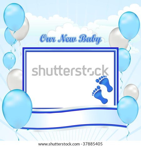 congratulations on your new baby boy create your first scrapbook page with this simple banner